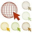 Earth Globe with cursor vector image