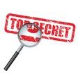 top secret vector image vector image