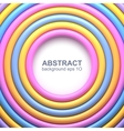 Abstract background with colorful glossy rings vector image