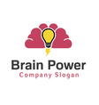 Brain Power Design vector image