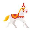 circus white horse vector image
