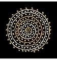 Floral spiral ornament golden sketch for your vector image