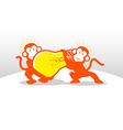 Monkey Idea Teamwork vector image