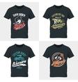 New York car shabby t-shirt mock up vector image