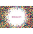 scattered motley confetti white background vector image