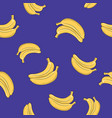 seamless pattern banana on purple background vector image