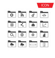 seo icon set and development icon set vector image