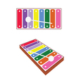 xylophone baby toy vector image