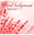 Floral pink background with flower meadow vector image