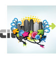 party city design vector image