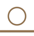 circle and line rope elements isolated on white vector image
