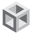3d square block vector image vector image
