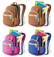 school backpack vector image
