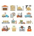 Warehouse transportation set vector image