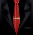 black suit and red tie vector image