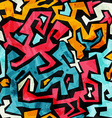 bright graffiti seamless pattern with grunge vector image