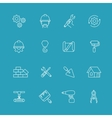 Construction and engineering icons Designing vector image