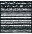 Hand drawn seamless line border setChalkboard vector image