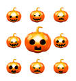 Happy halloween pumkin isolated on white vector image