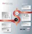 Magnet for Abstract business infographic backgroun vector image