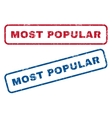 Most Popular Rubber Stamps vector image