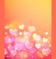 Pink bokeh effect shining background vector image