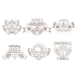 Retro farm fresh labels badges and design vector image