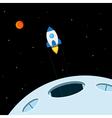 rocket ride vector image