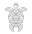 Turtle in zentangle style Freehand sketch for vector image