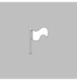 Waving Flag computer symbol vector image