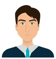 Young businessman profile over white background vector image
