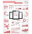 Digital Tablets Infographic Elements vector image