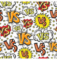 vs signs and stars seamless pattern vector image