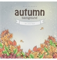 Background image for your text with autumn leaves vector image