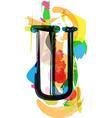 Artistic Font - Letter U vector image