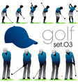 golf players poses vector image