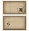 Blueprint background with compass rose vector image