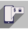 Flat with shadow icon stylish Mobile application vector image