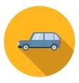Mini van car icon flat style vector image vector image