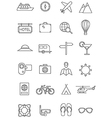 Travel journey icons vector image vector image