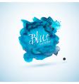 Blue watercolor splash design element vector image