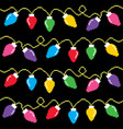 christmas lights cross-stitch pattern pixel xmas vector image