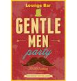 Gentlemen Party Typography poster vector image