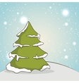 pine tree and snow landscape vector image