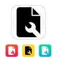 Repair File icon vector image