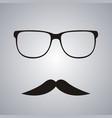 retro mustache and glasses symbol vector image