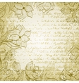 grungy background with handdrawn flowers vector image vector image