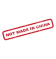 Not Made In China Rubber Stamp vector image