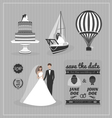Set of wedding design elements vector image