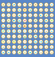 100 water recreation icons set cartoon vector image